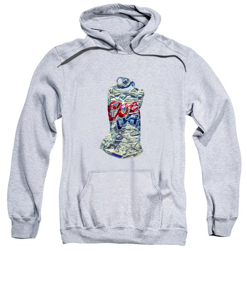 Crushed Silver Light Beer Can On Plywood 80 Sweatshirt