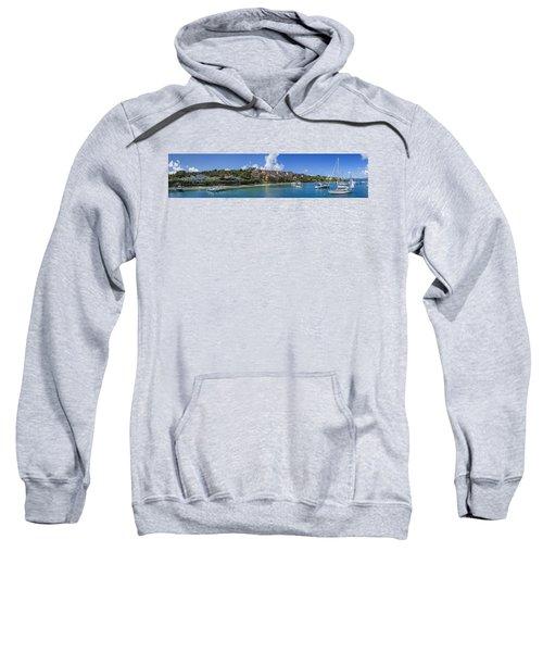Sweatshirt featuring the photograph Cruz Bay, St. John by Adam Romanowicz