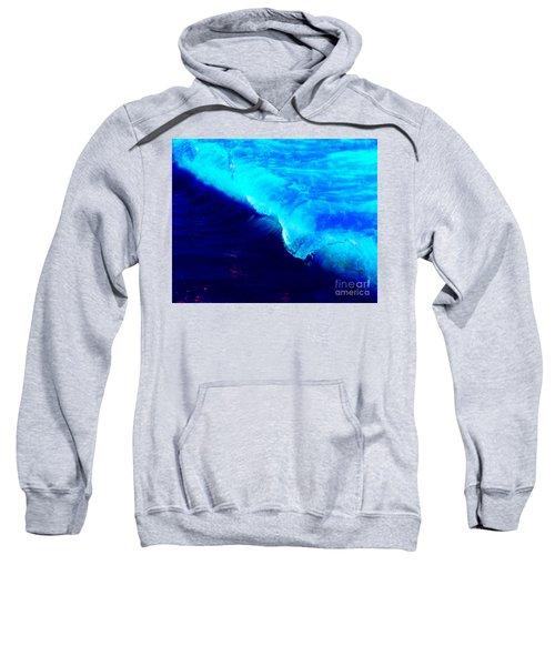 Crystal Blue Wave Painting Sweatshirt