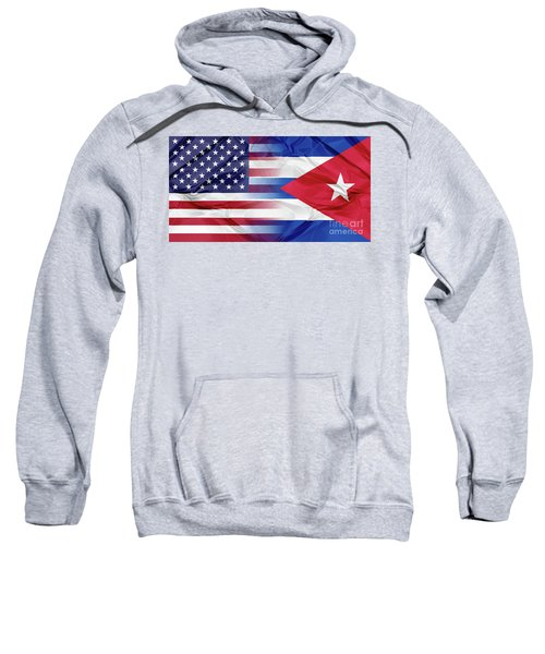 Cuba And Usa Flags Sweatshirt
