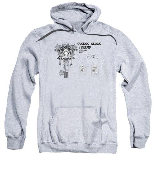Cuckoo Clock Patent Art Sweatshirt by Justyna JBJart