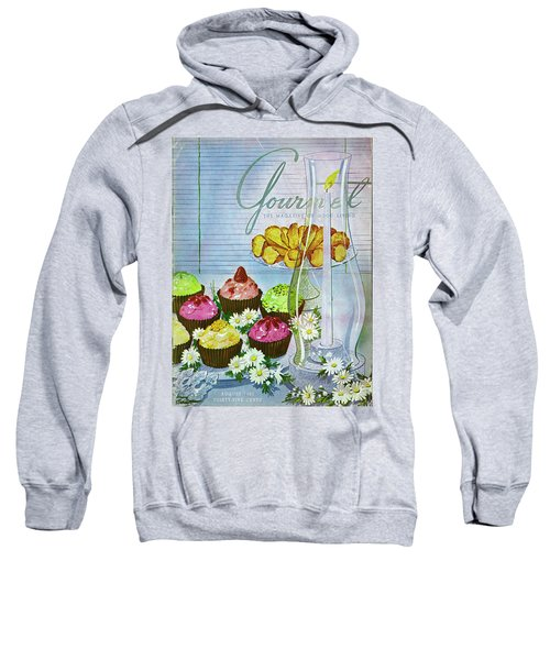 Cupcakes And Gaufrettes Beside A Candle Sweatshirt