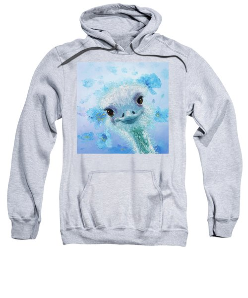 Curious Ostrich Sweatshirt by Jan Matson