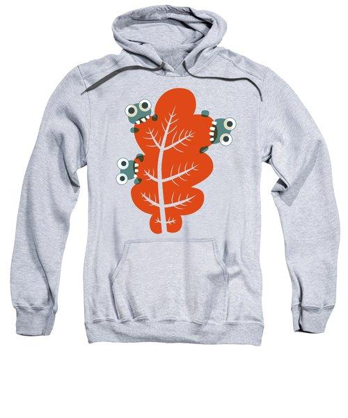 Cute Bugs Eat Autumn Leaf Sweatshirt