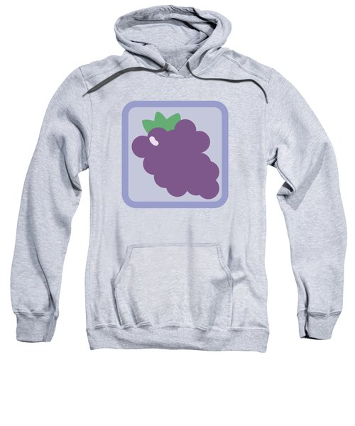 Cute Grapes Sweatshirt by Caroline Goh