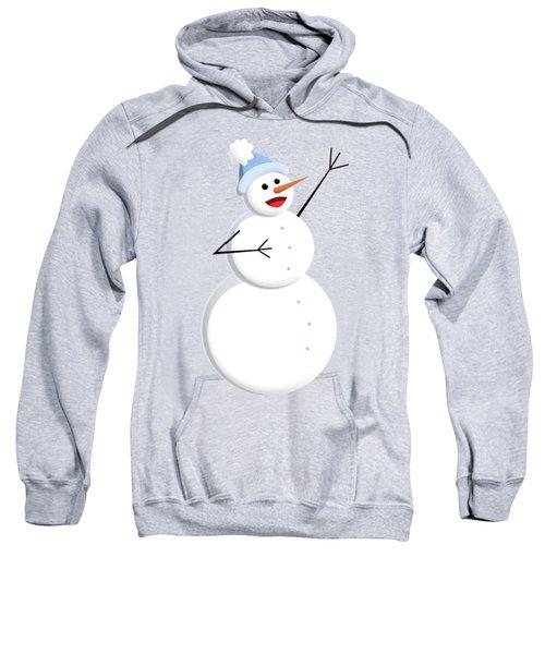 Cute Happy Snowman Sweatshirt