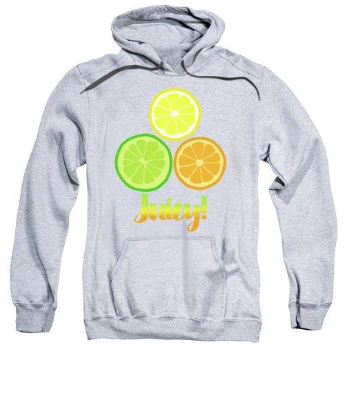 Cute Juicy Orange Lime Lemon Citrus Fun Art Sweatshirt by Tina Lavoie