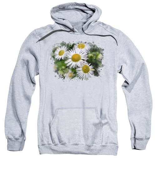 Daisy Watercolor Art Sweatshirt by Christina Rollo