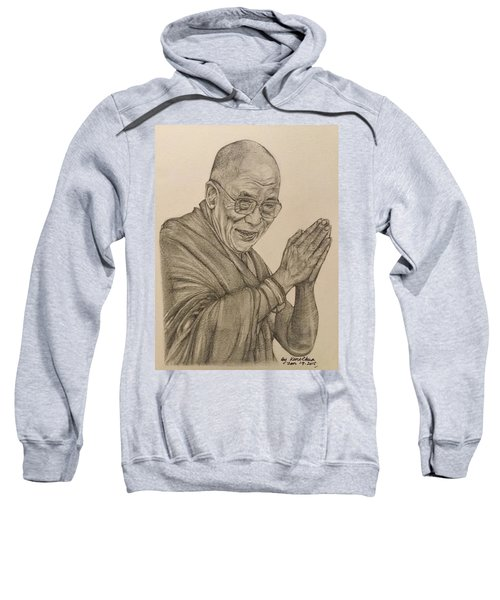 Dalai Lama Tenzin Gyatso Sweatshirt by Kent Chua