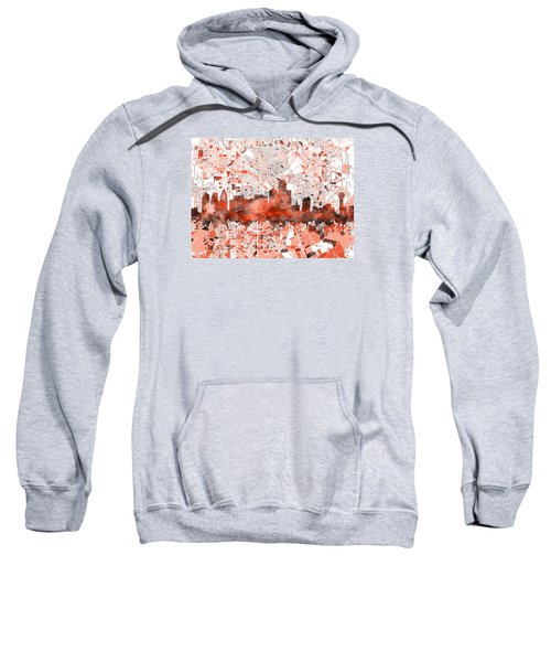 Dallas Skyline Map Red Sweatshirt