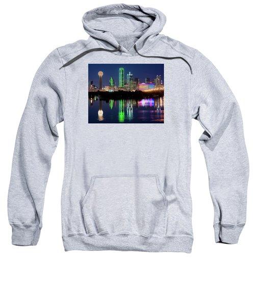 Dallas Skyline Reflection 91317 Sweatshirt