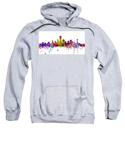 Dallas Texas Skyline Panoramic Sweatshirt