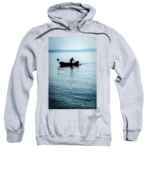 Dalmatian Coast Fisherman Silhouette, Croatia Sweatshirt