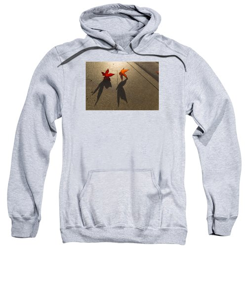 Sweatshirt featuring the photograph Dancing Leaves by Lora Lee Chapman