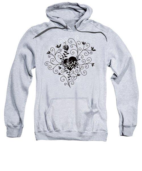 Dark Abstract Fixed Broken Heart Sweatshirt