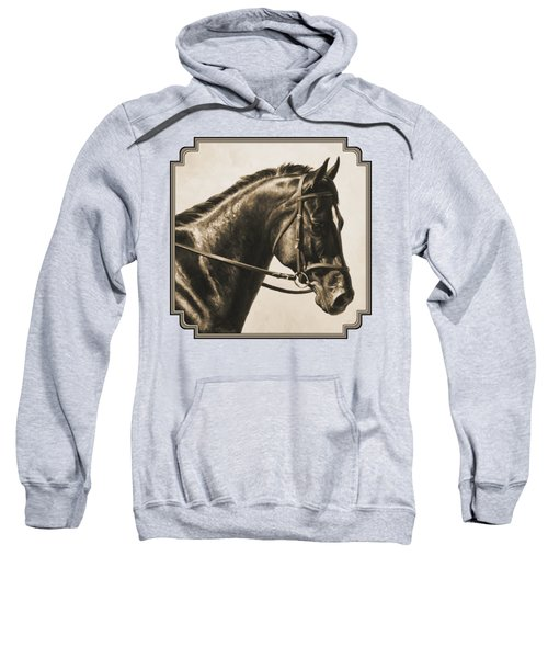 Dark Bay Dressage Horse Aged Photo Fx Sweatshirt