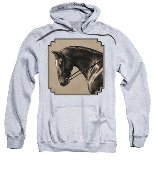 Dark Dressage Horse Aged Photo Fx Sweatshirt