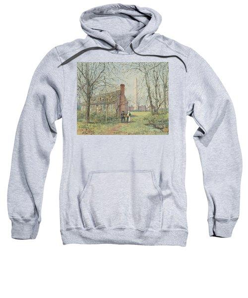 David Burns's Cottage And The Washington Monument, Washington Dc, 1892  Sweatshirt
