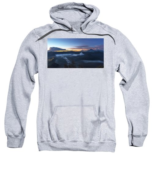 Dawn Breaking Scene Of Mt Bromo Sweatshirt