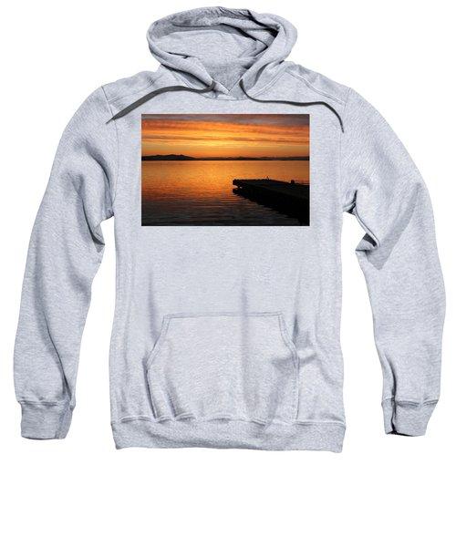 Dawn On The Water At Dusavik Sweatshirt