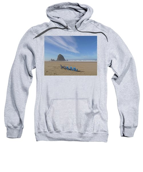 Day At Haystack Rock Sweatshirt