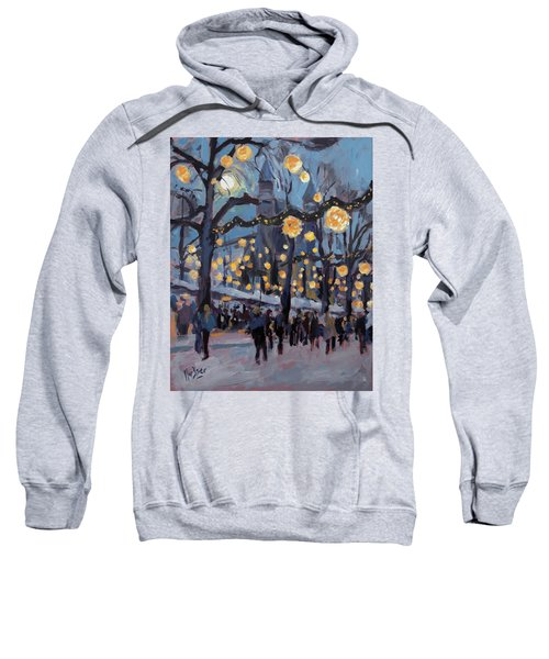 December Lights At The Our Lady Square Maastricht 1 Sweatshirt by Nop Briex