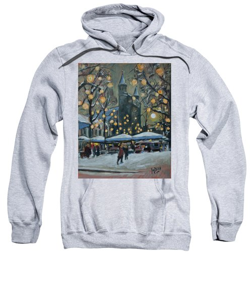 December Lights At The Our Lady Square Maastricht 2 Sweatshirt by Nop Briex