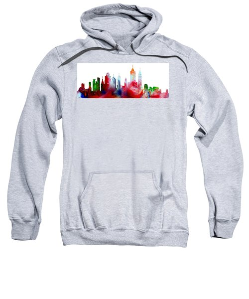 Decorative Skyline Abstract New York P1015c Sweatshirt