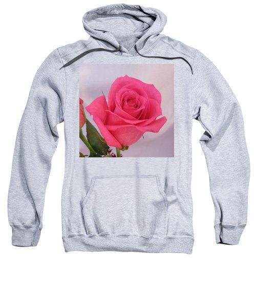 Single Deep Pink Rose Sweatshirt