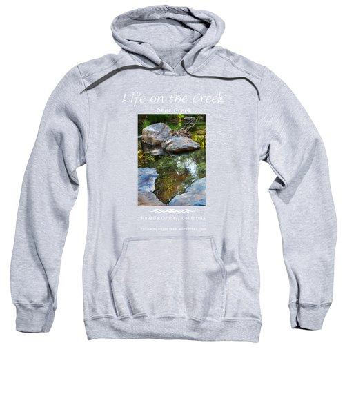 Deer Creek Point - White Text Sweatshirt