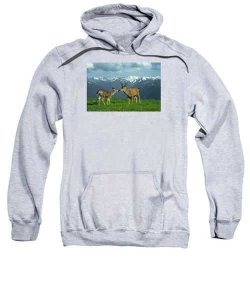 Ma-181-deer In Love  Sweatshirt