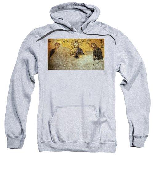 Deesis Mosaic Hagia Sophia-christ Pantocrator-judgement Day Sweatshirt
