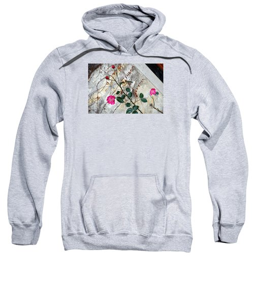 Delicate Rose In December Sweatshirt