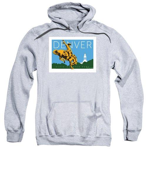 Sweatshirt featuring the digital art Denver Civic Center Park by Sam Brennan
