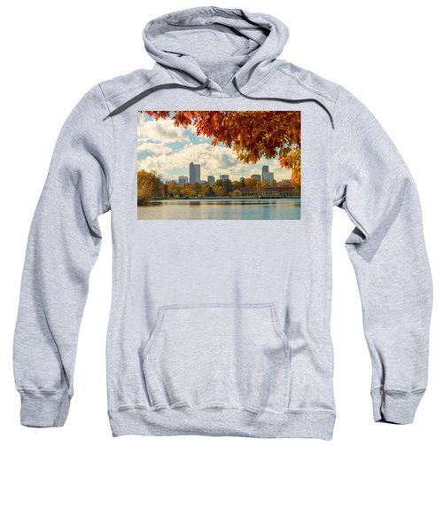 Denver Skyline Fall Foliage View Sweatshirt
