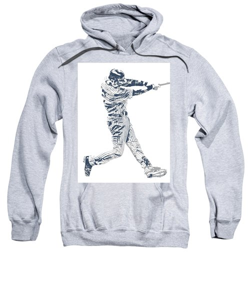 Derek Jeter New York Yankees Pixel Art 10 Sweatshirt