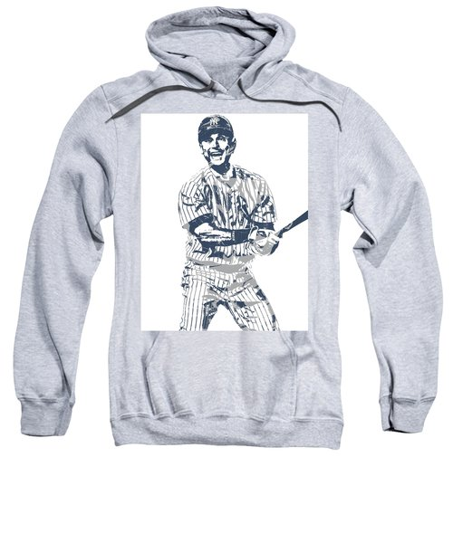Derek Jeter New York Yankees Pixel Art 13 Sweatshirt