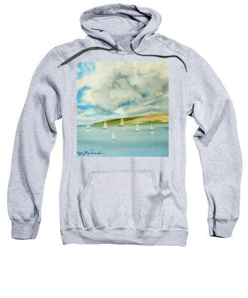 Dark Clouds Threaten Derwent River Sailing Fleet Sweatshirt
