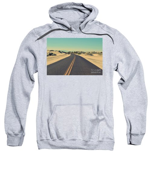 Sweatshirt featuring the photograph Desert Road by MGL Meiklejohn Graphics Licensing