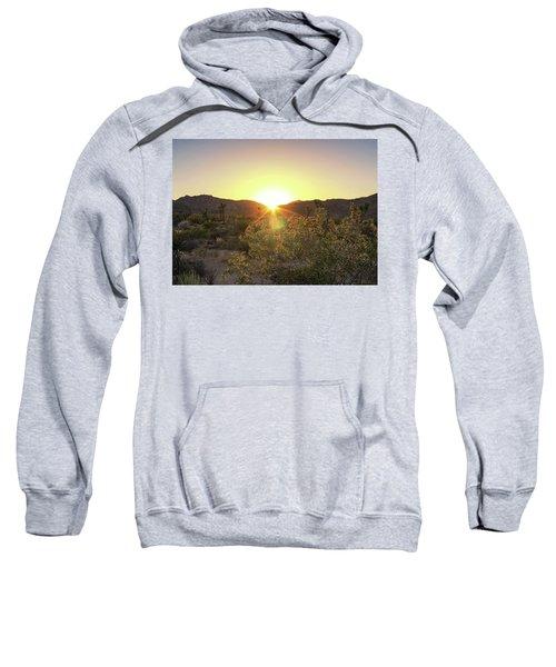 Sweatshirt featuring the photograph Desert Sunset by Alison Frank