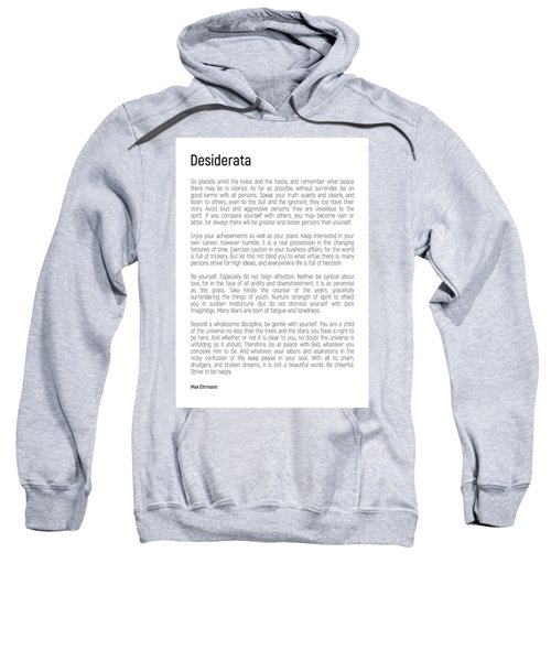 Desiderata #minimalism Sweatshirt
