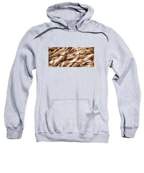 Designer Camo In Beige Sweatshirt