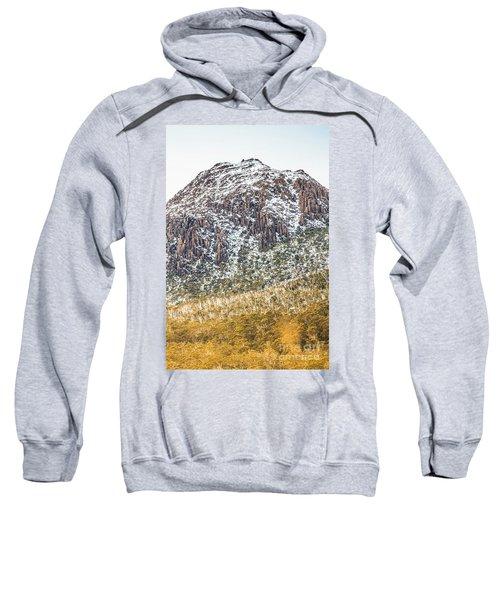 Detail On A Australian Snow Covered Mountain Sweatshirt