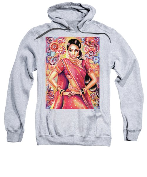 Sweatshirt featuring the painting Devika Dance by Eva Campbell