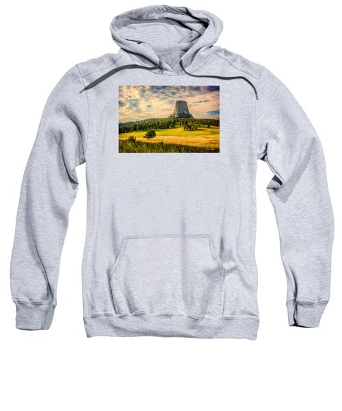 Sweatshirt featuring the photograph Devil's Tower - The Other Side by Rikk Flohr