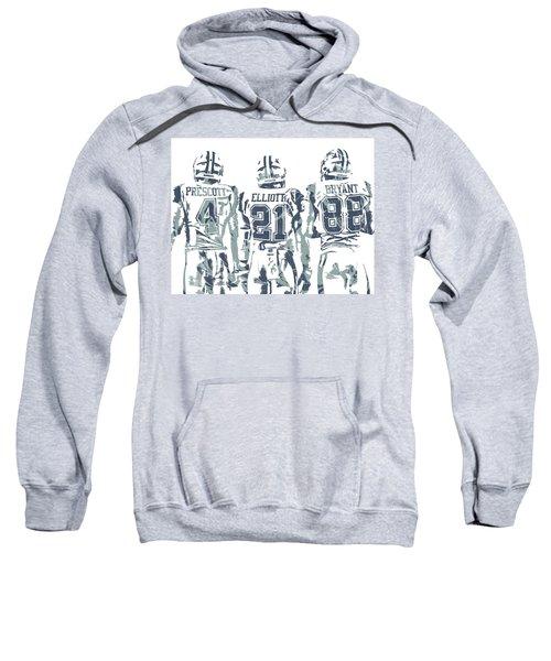 Dez Bryant Ezekiel Elliott Dak Prescott Dallas Cowboys Pixel Art Sweatshirt
