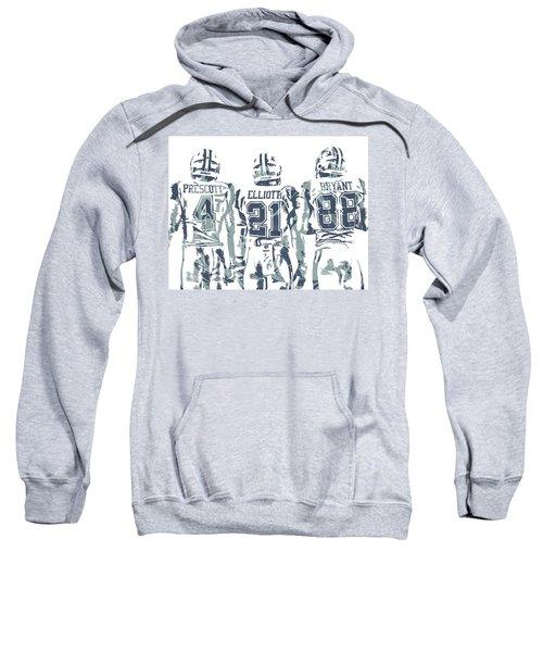 a361b25da74d08 Dez Bryant Ezekiel Elliott Dak Prescott Dallas Cowboys Pixel Art Sweatshirt