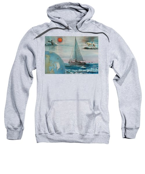 Ireland Canada Links..'' Northabout '' Rounding The North West Passage Sweatshirt