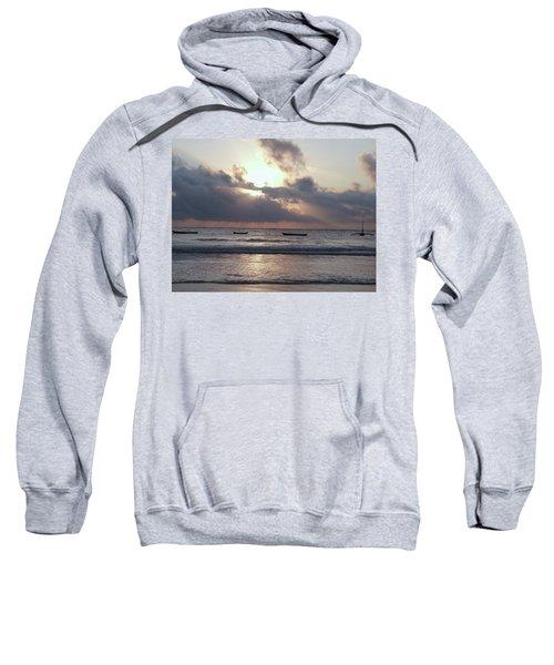 Dhow Wooden Boats At Sunrise 1 Sweatshirt