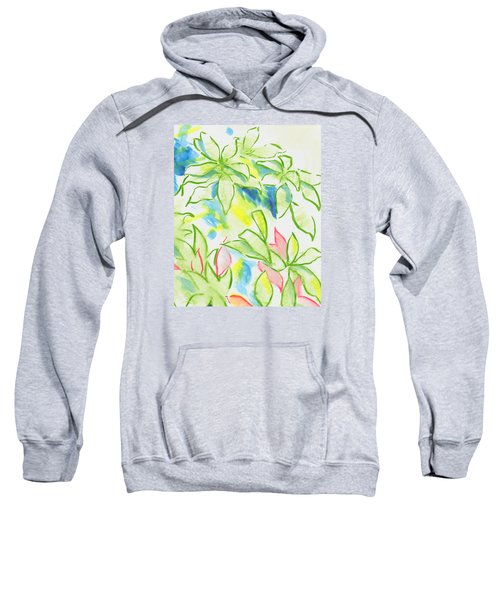 Different Coloured Hydrangea Leaves - Green Red Yellow Sweatshirt